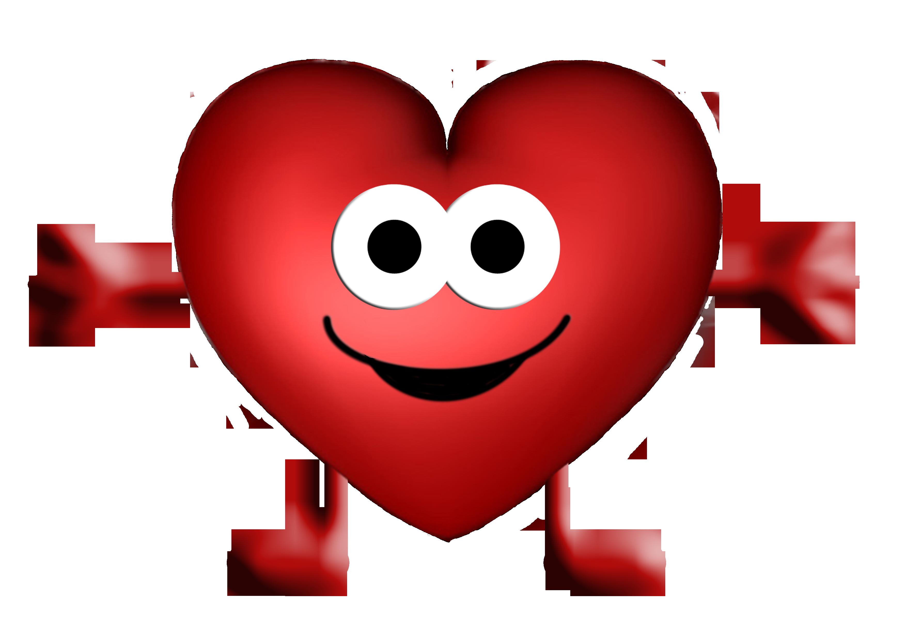 Картинка сердце улыбается