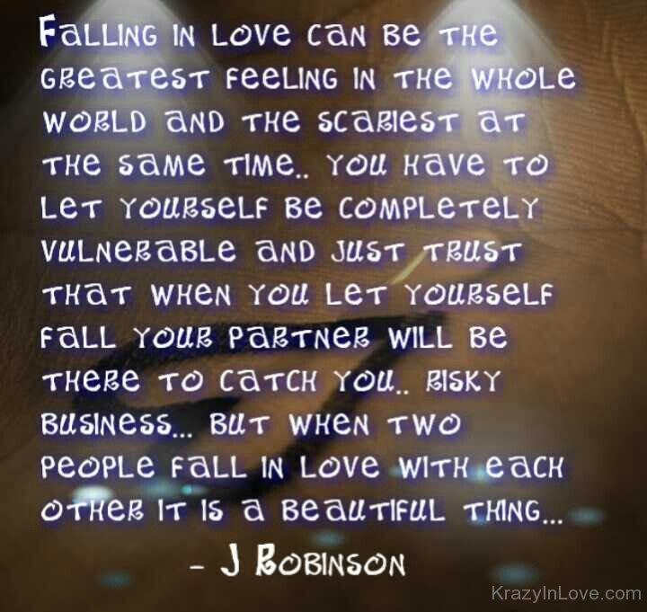 Falling in love feeling vulnerable
