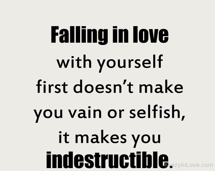 Falling In Love With Yourself