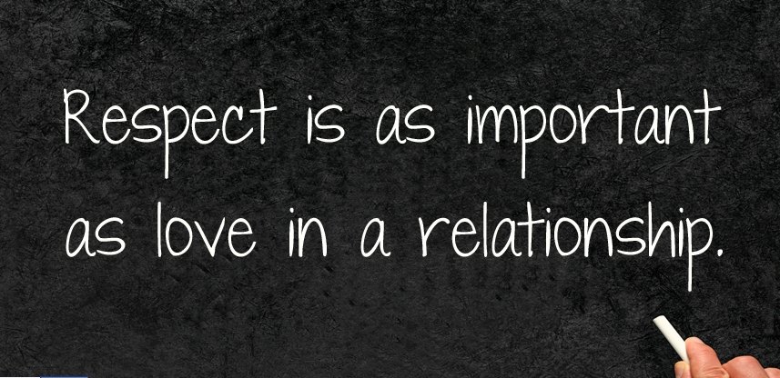 love is respect So, when you love someone, you respect them, their feelings, privacy, boundaries, decisions, food choices, mode of dressing etc it is only when you respect your partner that it becomes easy for him/her to do same to you because often times, trust is part of respect.