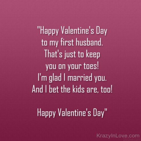 Happy Valentines Day To My First Husband 550x550 تهنئة زوجي بعيد الحب  بطاقات عيد الحب للزوج 2017
