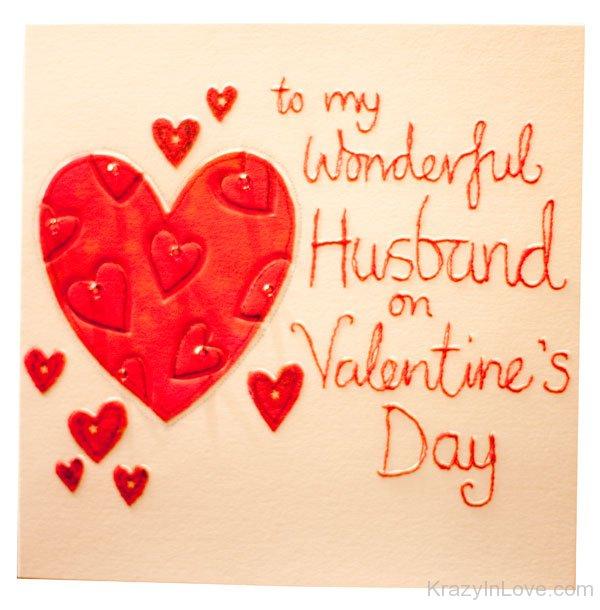 to my wonderful husband happy valentines day