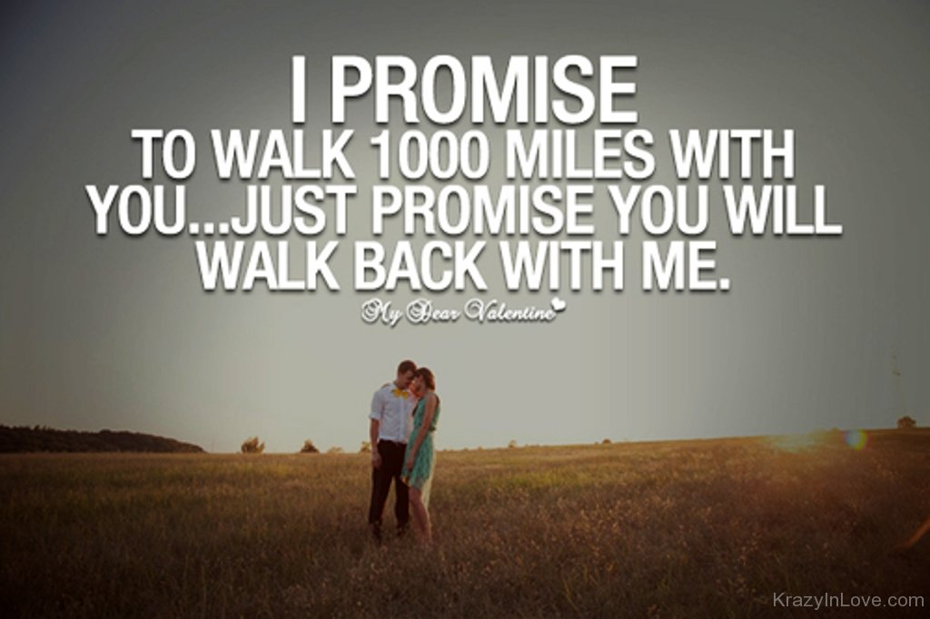 I Promise To Walk