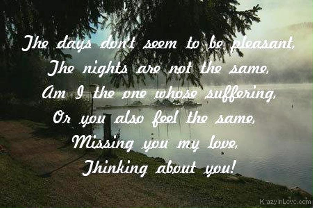 Missing You My Lovethinking About You Lmn112