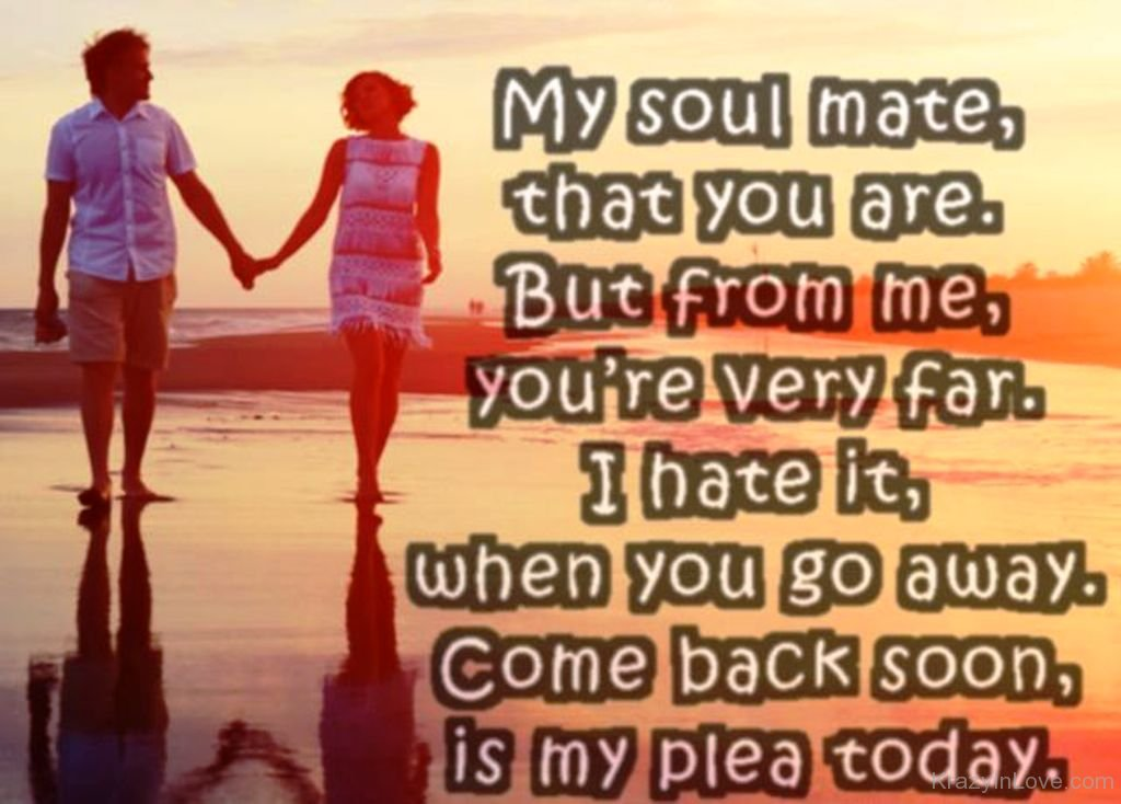 I miss my soulmate