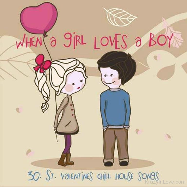 boy and a girl in love