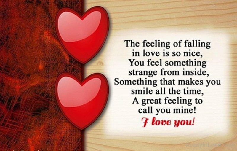 The Feeling Of Falling In Love Is So Nice