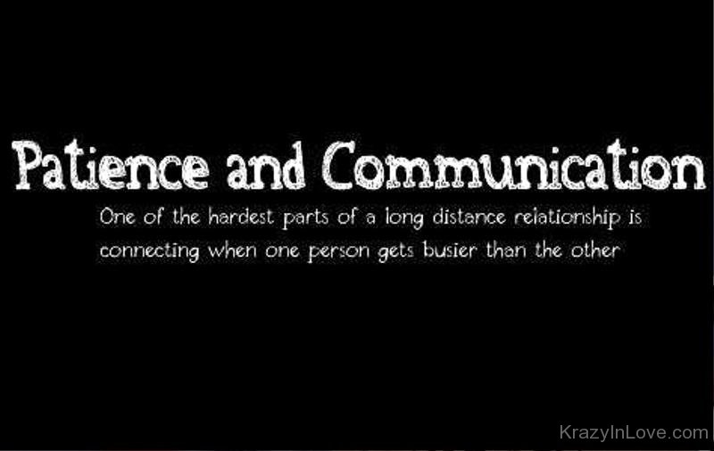 Patience And Communication