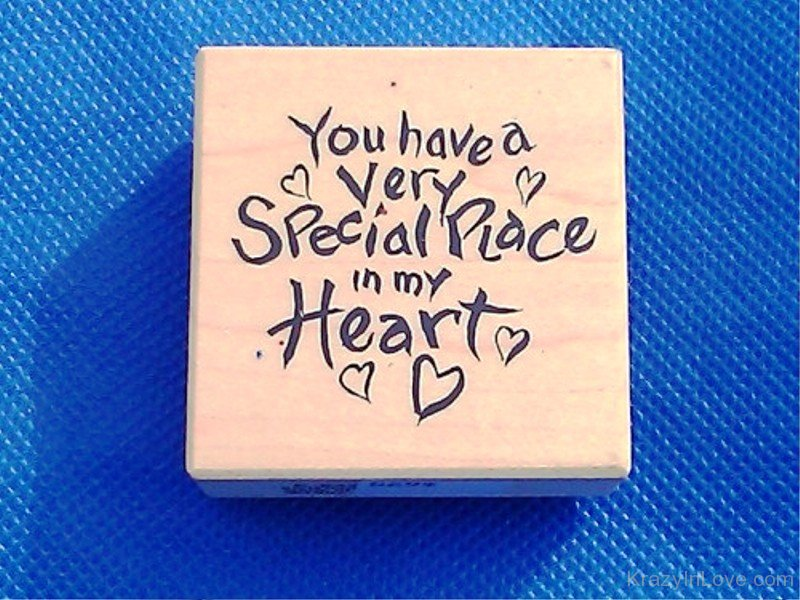 you are special in my heart