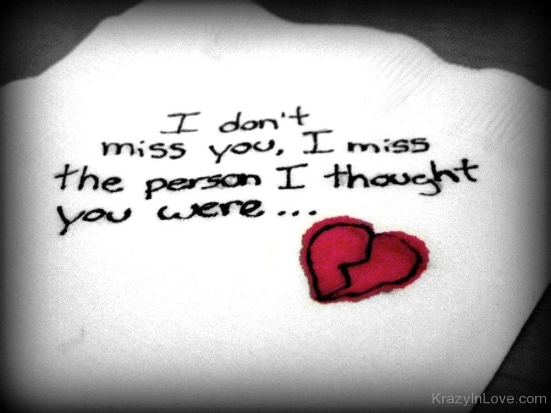 I Dont Miss You I Miss The Person
