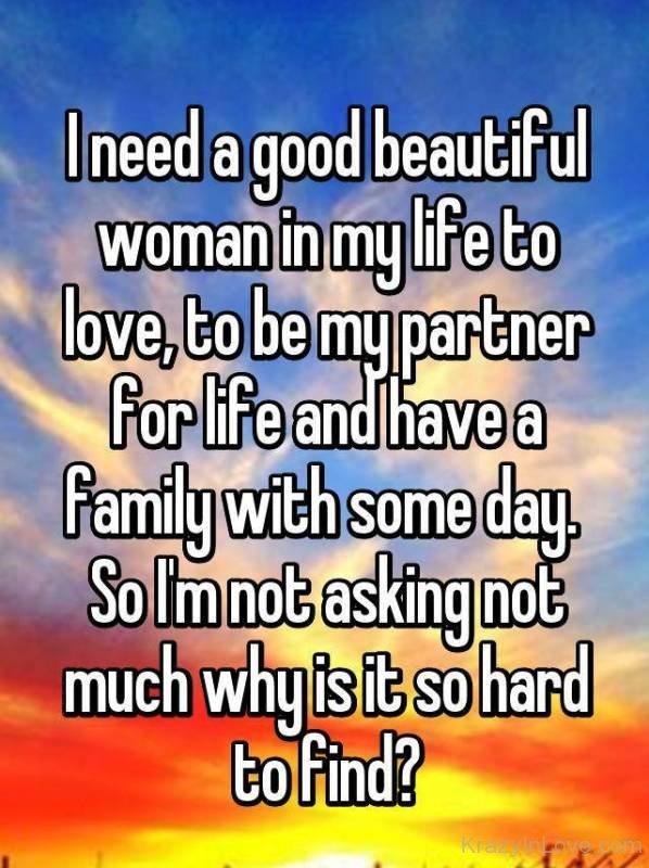 私は人生で女性が必要です