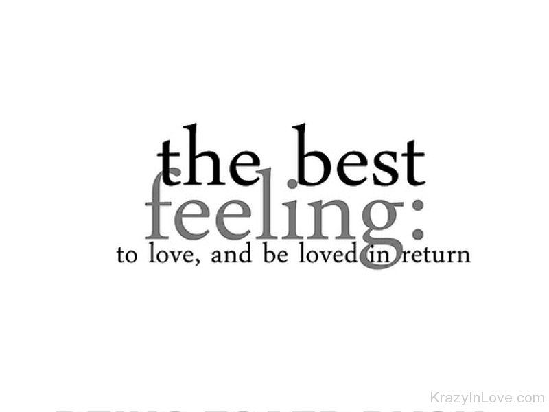 best feeling of love
