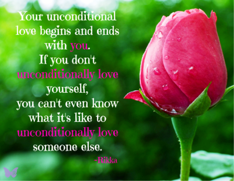 Your Unconditional Love Begins And Ends