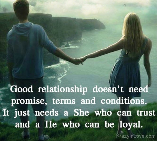 Good Relationship Quotes Delectable Good Relationship Does Not Need Promise