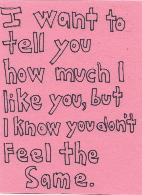 i like you and i want you