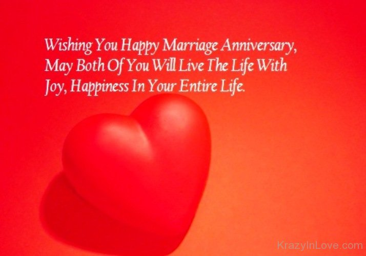 Wishing You A Happy Marriage Anniversary